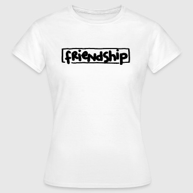 Damen T-Shirt - Friendship - weiss - Frauen T-Shirt