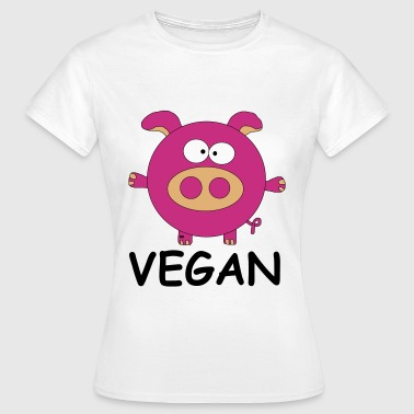 Vegan Schwein Statement Veggie Pork Porc Pig - T-skjorte for kvinner