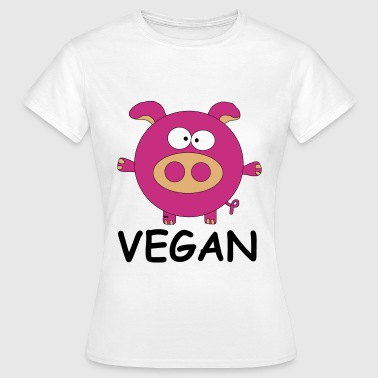 Vegan Schwein Statement Veggie Pork Porc Pig - Women's T-Shirt