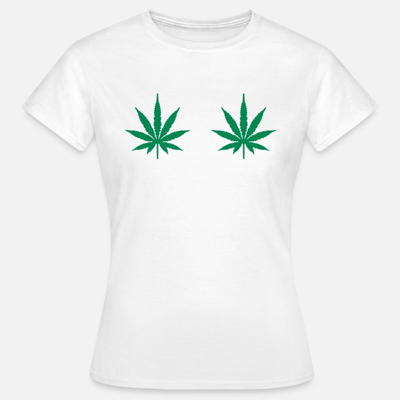 Weed T-Shirts - Cheeky Funny Weed T-Shirt - Women's T-Shirt white