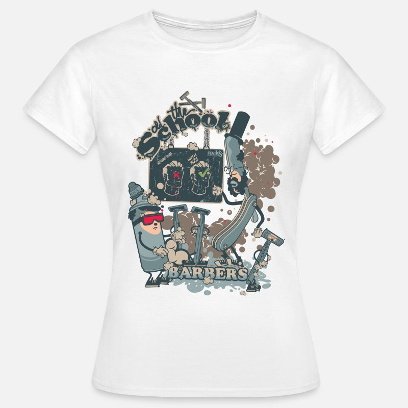 Collection T-shirts - barbers shop - T-shirt Femme blanc