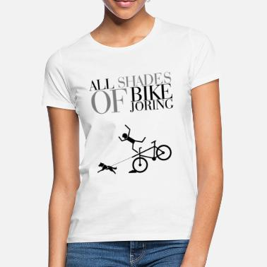 Zughunde All Shades Of Bikejöring  - Frauen T-Shirt