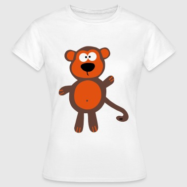 Monkey Affe Äffchen Party Fun Cool - Camiseta mujer