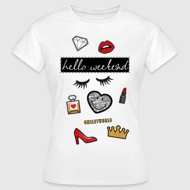 Smiley World Hello Weekend Princesse  - T-shirt Femme