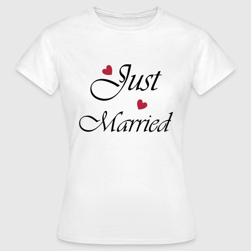 Just Married mit Herz - Frauen T-Shirt