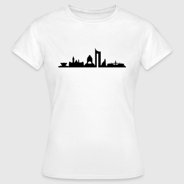 Skyline - Leipzig - Frauen T-Shirt
