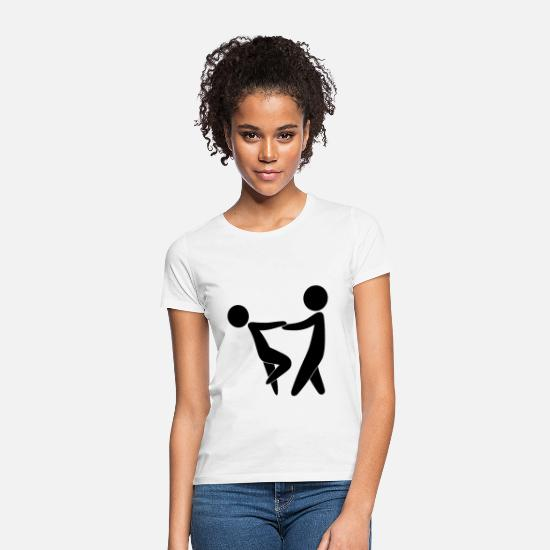 Christian T-Shirts - Couple dancing on Valentine s Day - Women's T-Shirt white