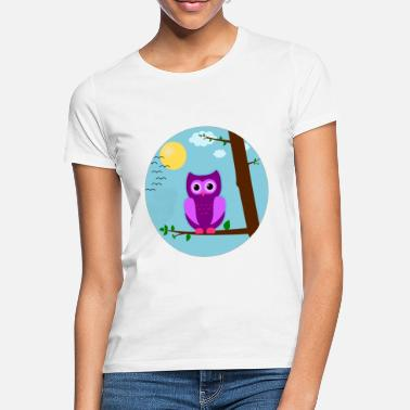 Baby-eule Tag-EULE Eule Uhu Vogel Tiere Shirt Kind Baby - Frauen T-Shirt