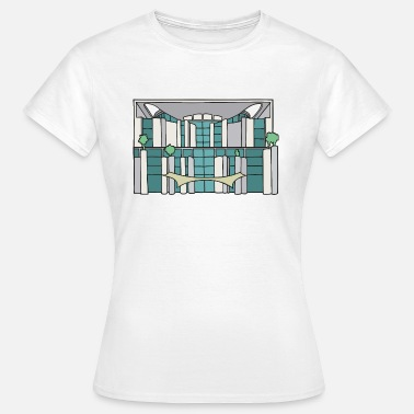 German Chancellor Angela Merkel Chancellery in BERLIN c - Women's T-Shirt