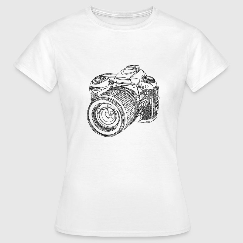 Modern Digital SLR Camera Drawing - Women's T-Shirt
