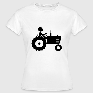 Agricultor con tractor - Camiseta mujer