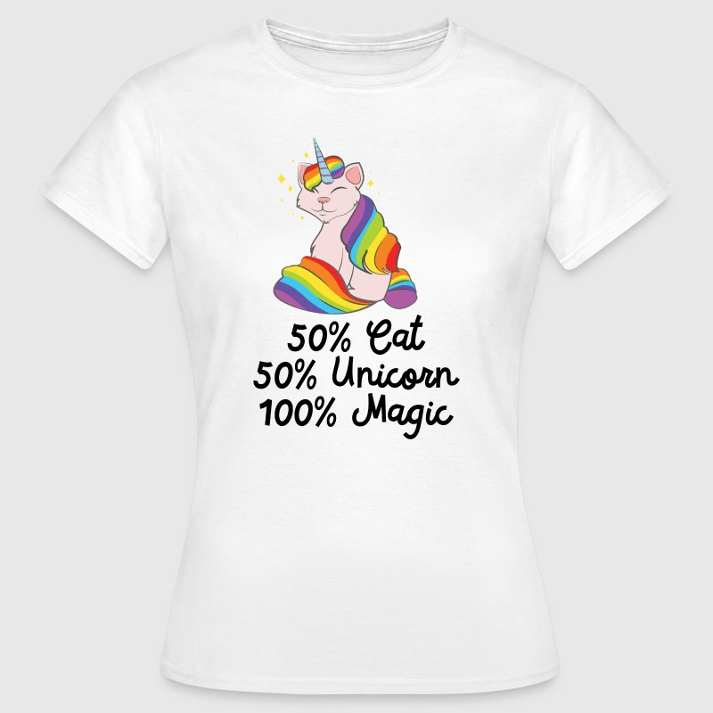 50% Cat, 50% Unicorn, 100% Unicorn - Women's T-Shirt