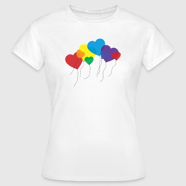 balloon hearts rainbow - Women's T-Shirt