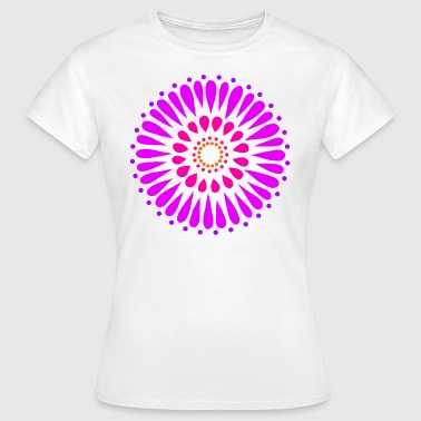 Purple Double Sunflower Mandala - Women's T-Shirt