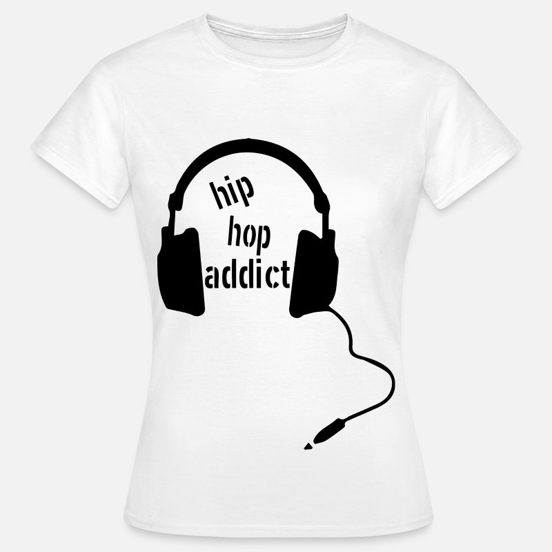 Hip T-Shirts - Hip Hop Addict - Vrouwen T-shirt wit