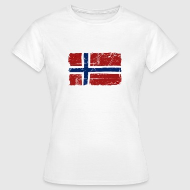 Norway Flag - Vintage Look  - T-skjorte for kvinner