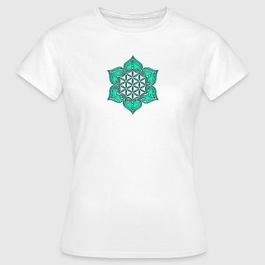 Flower of life, Lotus - Flower, green, Symbol of perfection and balance - Vrouwen T-shirt