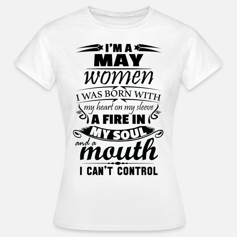 May T-Shirts - I Am A May Women - Women's T-Shirt white