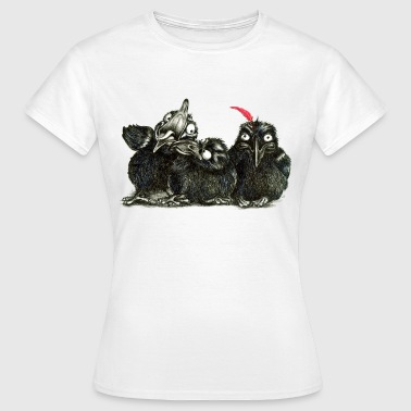 three young crows - T-shirt dam