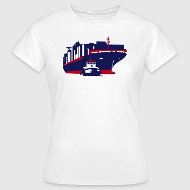 container ship - Vrouwen T-shirt