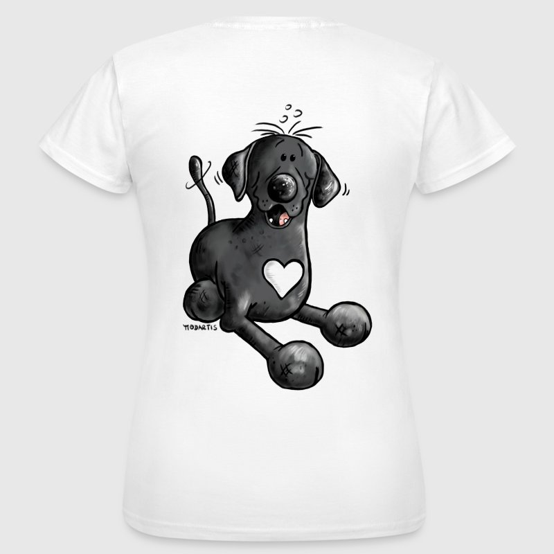 Labrador Retriever - dog - t-shirt design- cartoon - T-shirt Femme