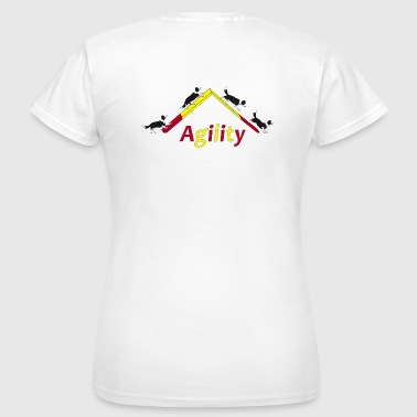 Agility 4x Border Collie - Frauen T-Shirt