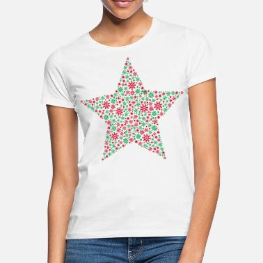Christmas Star Snowflakes - Maglietta donna