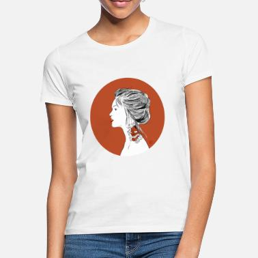 Traditional Japanese woman with tattoo - Women's T-Shirt