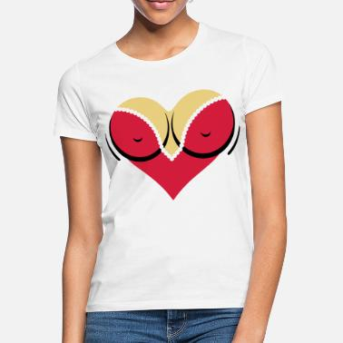 Nipple Cleavage Heart-shaped woman s breasts with deep cleavage - Women's T-Shirt
