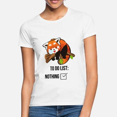 Rote Liste Roter Panda To Do Liste - Frauen T-Shirt