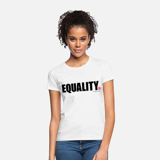 Statement T-shirts - SmileyWorld Equality - Vrouwen T-shirt wit