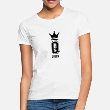 Collegestyle Queen Crown Queen Collegestyle Letter - T-shirt dame