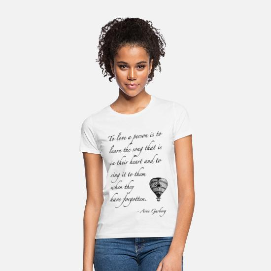 Quotes T-Shirts - To love someone - quote - Women's T-Shirt white