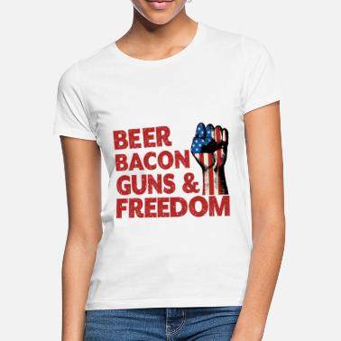 Independence Day Beer Bacon Freedom - Frauen T-Shirt