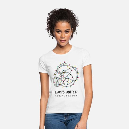Typography T-Shirts - Lamps united corporation - Women's T-Shirt white