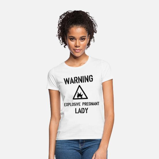 Pregnancy T-Shirts - Warning - Women's T-Shirt white