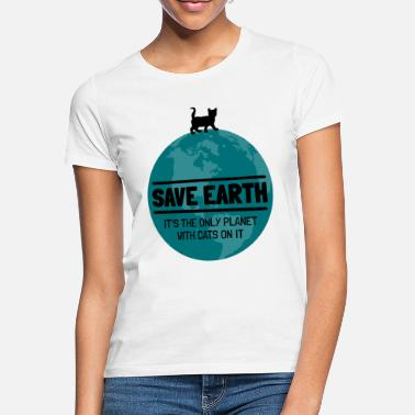 Gem Earth World Rescue Environmental Protection Cats siger - T-shirt dame