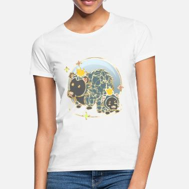 Party Monster HEDGEHOG royal mama gold lineart - Women's T-Shirt