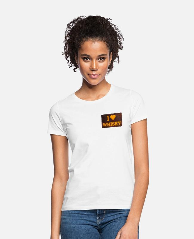 Yummy T-Shirts - I Love Whiskey Sign - Women's T-Shirt white