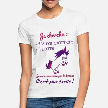 Charmant Prince charmant licorne,humour,citation,princesse - T-shirt Femme