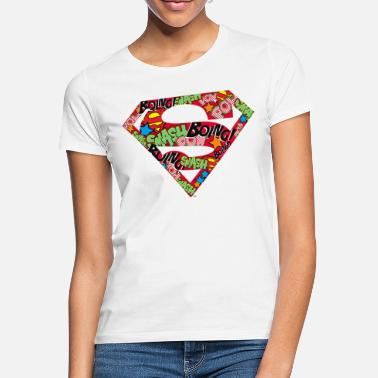 DC Comics Superman Classic Logo Soundwords - Naisten t-paita
