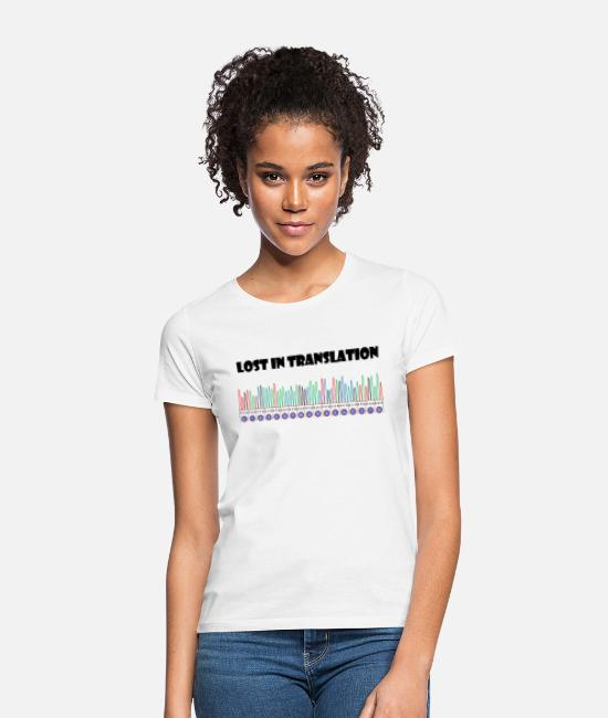 Translation T-Shirts - Sangerism - Lost in translation - Women's T-Shirt white