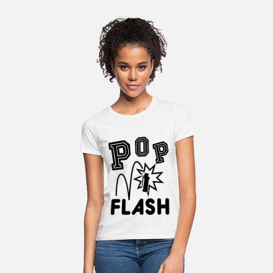 Strike T-Shirts - POP FLASH - Frauen T-Shirt Weiß