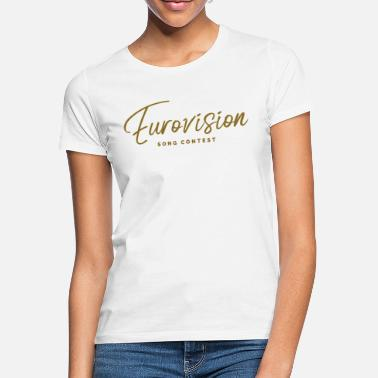 Color Contest Eurovision song contest font gold colors - Women's T-Shirt
