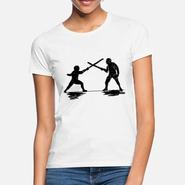 Sword Fight fencing sword sword duel arena sword fighting - Women's T-Shirt