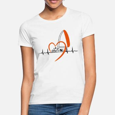 heartbeat kite buggy black with big heart - Frauen T-Shirt
