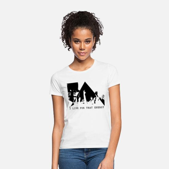 Hardstyle T-Shirts - Crowd Energy - Women's T-Shirt white