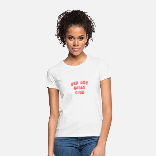 Typography T-Shirts - Bad As Babes Club - Women's T-Shirt white