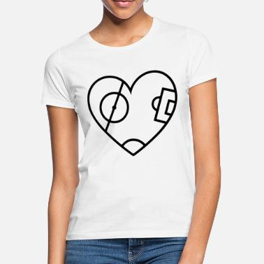 Football Pitch Pitch Heart - Women's T-Shirt