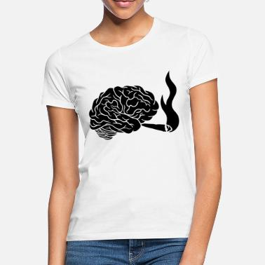 Mass Weed smoking brain - Women's T-Shirt